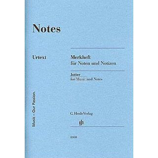 Henle Verlag Notenheft DIN A6 Notes Product Image