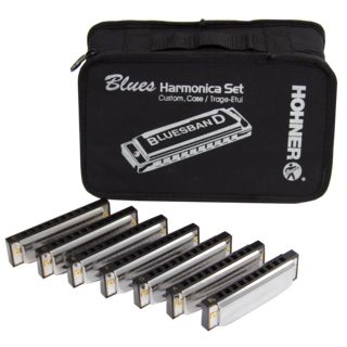 Hohner 7 Blues Harmonica Starter Set  Product Image
