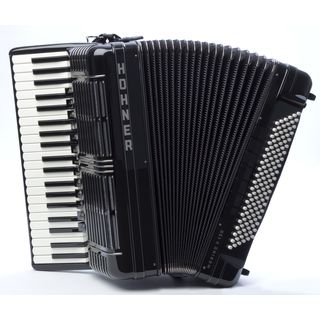 Hohner Piano-Accordion Morino+ 120 bass, V voices, Black Product Image