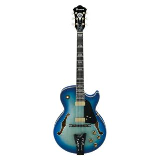 Ibanez George Benson GB40THII-AA 40th Anniversary Jet Blue Burst Limited Edition Изображение товара