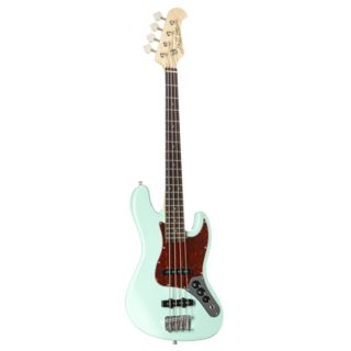 J & D Bass guitar JB Mini SFG Surf Green Product Image