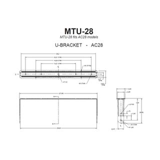 JBL Mounting Bracket MTU-28  Product Image