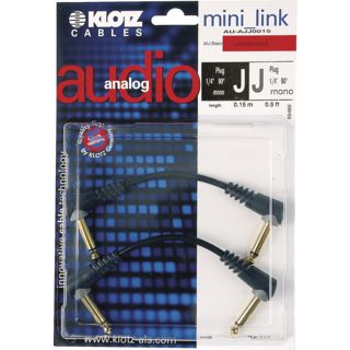Klotz AU-AJJ0015 2x Patch Cable 0,15 m Product Image