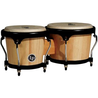 "Latin Percussion Aspire Bongos LPA601-AW, 6 3/4"" + 8"", Natural Wood #AW Product Image"