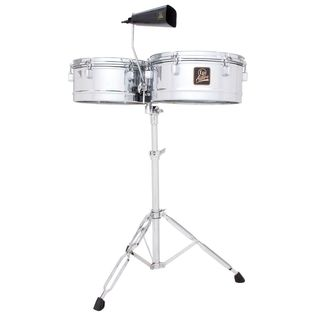 Latin Percussion LPA256,Timbales, Chrome, 13Ë & 14Ë Shells Productafbeelding
