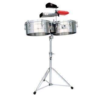 "Latin Percussion Timbales Tito Puente LP257-S, 14"" & 15"", Stainless Steel Εικόνα προιόντος"