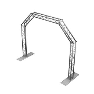 lightmaXX ALU-STAGE MOBILE TRUSS GATE Silver, 2,4mx2,9m, Ø35mm, TÜV Productafbeelding