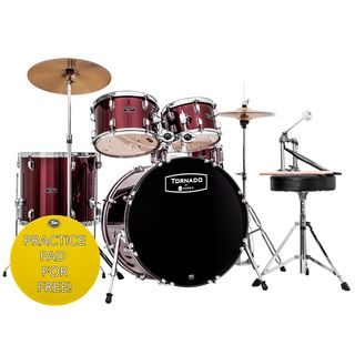 Mapex Tornado Drumset TND5045TZ, Dark Red #DR Product Image