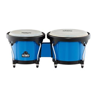 "Meinl ABS Bongo Plus NINO17B-BK, 6.5""+7.5"", Blue, Black HW Product Image"