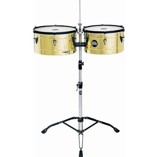 "Meinl Marathon Timbales MT1415B, 14"" & 15"", Brass Finish Product Image"