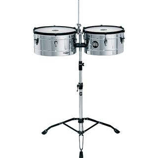 "Meinl Marathon Timbales MT1415CH, 14"" & 15"", Chrome Product Image"