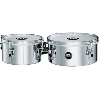 "Meinl Mini Timbales with810CH, 8"" & 10"", Chrome Finish Product Image"