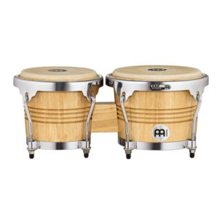 Meinl Wood Bongos WB200NT-CH, Chrome Hardware Product Image