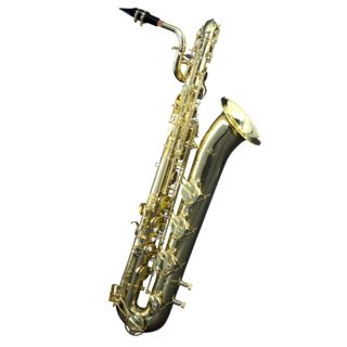 Monzani MZBS-110L Baritone Saxophone Brass, Lacquered Produktbillede