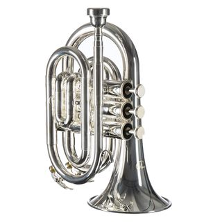 Monzani MZMT-500S Bb-Pocket Trumpet Silverplate Product Image