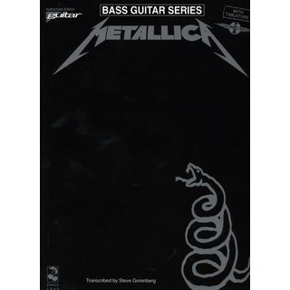 Music Sales Metallica - Black Album BASS Bass TAB Product Image