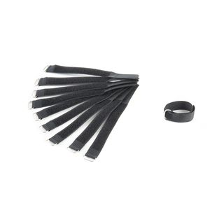 MUSIC STORE 16cm Velcro Cable Tie 10 Pack, black Product Image