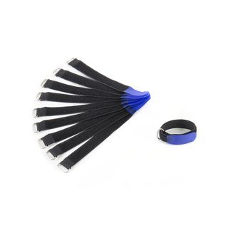 MUSIC STORE 20cm Velcro Cable Tie 10 Pack, blue Product Image