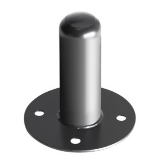 MUSIC STORE Mounting Flange Steel black Product Image