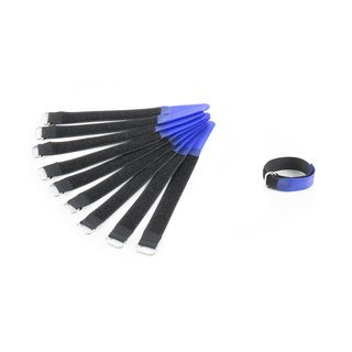 MUSIC STORE Velcro Cable Tie,16cm, blue Pack of 10 Product Image