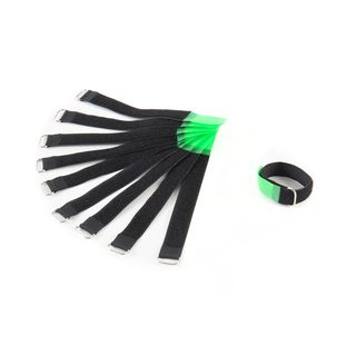 MUSIC STORE Velcro Cable Tie,20cm, green Pack of 10 Product Image