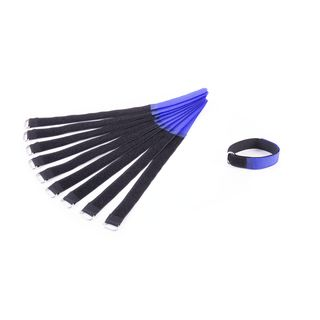MUSIC STORE Velcro Cable Tie,30cm, blue Pack of 10 Product Image