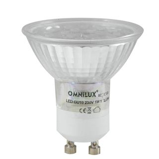 Omnilux GU-10 230V 18x 1W LED Blue Led Lamp Εικόνα προιόντος
