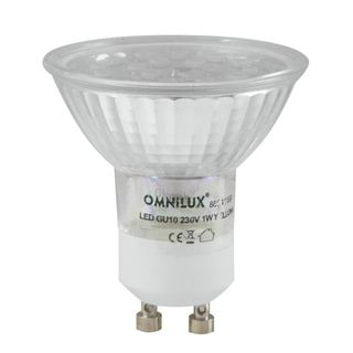 Omnilux GU-10 230V 18x 1W LED Red Led Lamp Εικόνα προιόντος