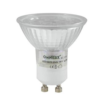 Omnilux GU-10 230V 18x 1W LED Yellow Led Lamp Product Image