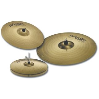 "Paiste 101 Brass Cymbal Set 13"" HiHat, 16"" Crash, 20"" Ride Produktbild"