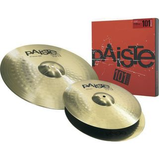 "Paiste 101 Brass Cymbal Set Essential 13"" HiHat, 18"" Crash Ride Productafbeelding"
