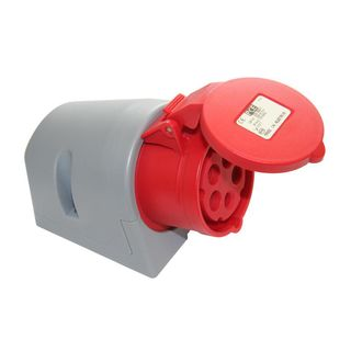 PCE Wall socket CEE 16A 5pin Turbo Twist, red Product Image
