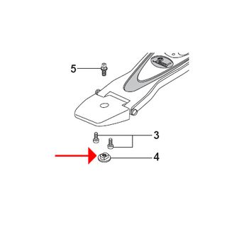 Pearl Heel Position Adjust Schraube DC-398, for P-1000 Product Image