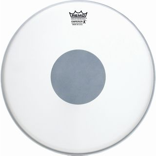 "Remo Emperor X 14"", coated, Black Dot, Snare Batter Product Image"