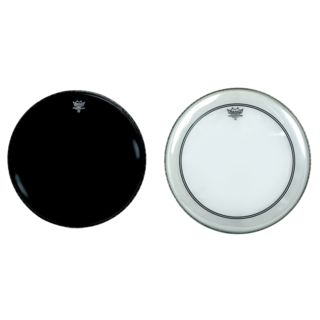 "Remo Powerstroke 3 Clear + Powerstroke 3 Ebony 22"" Set Product Image"