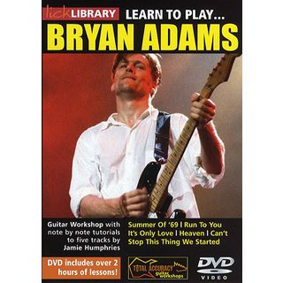 Roadrock International Lick Library: Learn To Play Bryan Adams DVD Product Image