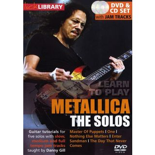 Roadrock International Lick Library -  Metallica The Solos, DVD and CD Изображение товара