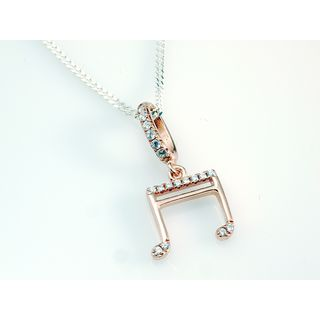 Rockys Pendant Notes with Chain rosé gold plated, zirconia Product Image