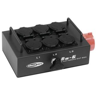 Showtec Breakout Box BO-6-PW 5Pin 380V - 6 Schukos Product Image