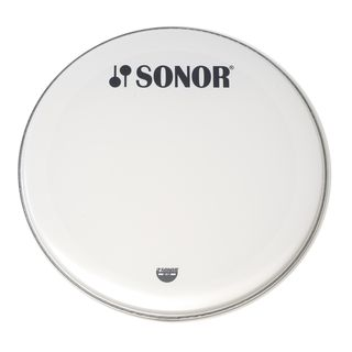 "Sonor BassDrum Head BD 24 12 H, 24"", Marching, smooth white, 1-ply Product Image"