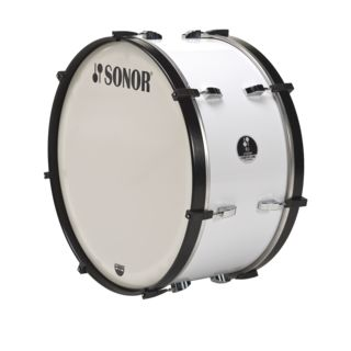 "Sonor Marching BassDrum MC 2614 CW 26""x14"", Comfort-Line, White Product Image"