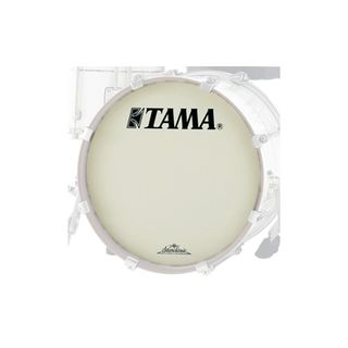 "Tama Bass Drum Front Head CT22BMOT, 22"", white, Starclassic Logo Product Image"