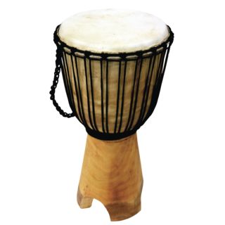 Terré Stand-Djembe natur, oiled, large Produktbillede