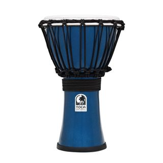 "Toca Percussion ColorSound Djembe TFCDJ-7MB, 7"", Blue Product Image"