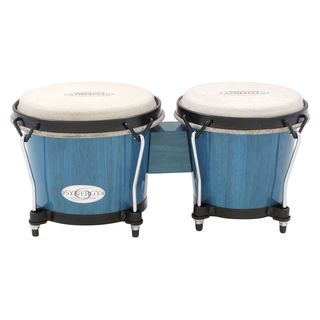 "Toca Percussion Synergy Bongos 2100BB, 6 & 6-3/4"", Bahama Blue Product Image"