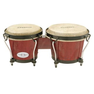 "Toca Percussion Synergy Bongos 2100RR, 6 & 6-3/4"", Rio Red Product Image"