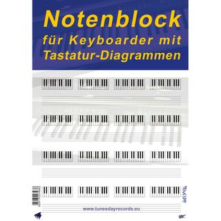 Tunesday Notenblock für Keyboard Produktbild
