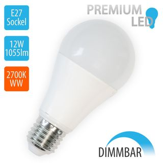 V-TAC 12W LED E27 A60 Globe DIMMABLE 2700K Warm White 1055lm Product Image