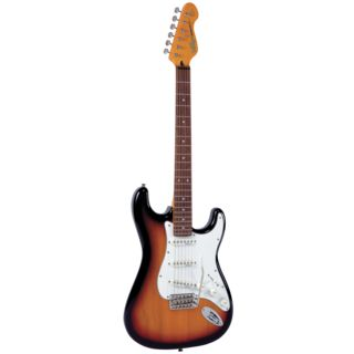 Vintage V6 Electric Guitar, Sunset Sun burst   Product Image