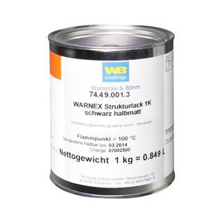 Warnex black protective finish 1 kg  Product Image